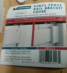 Veranda Vinyl Fence Rail Bracket Cover 73013117 For Sale Online Ebay