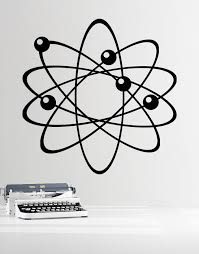 Atom Wall Decal Electrons Protons And Neutrons Perfect For Science School Decor Physics 389 Stickerbrand