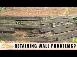 railroad tie retaining wall problems