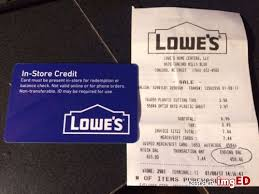 lowe s credit card in