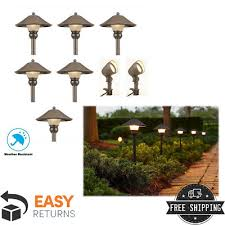 path walkway garden landscape lighting