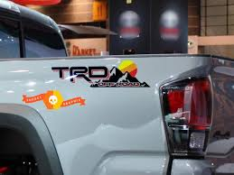 Trd Off Road Vintage Sunset Style 4x4 Pro Sport Off Road Side Vinyl Stickers Decal Toyota
