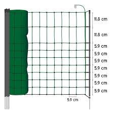 50m Voss Pet Small Animal Pet Electric Fence Netting 65cm Green 1 Spike