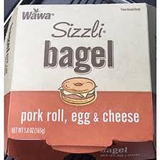 wawa grocery egg cheese sizzli bagel
