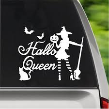 Hallo Queen Witch Mom Sticker Mom Car Decal Computer Etsy