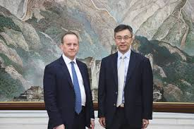 Charge d'Affaires a.i. Zhu Qin Meets with Adam Ward, Deputy Director of  Chatham House