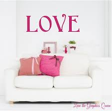 Love Wall Decal Sticker Valentines Day Decoration Hot Pink