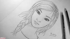 صور رسومات بنات بالقلم الرصاص الم حيط