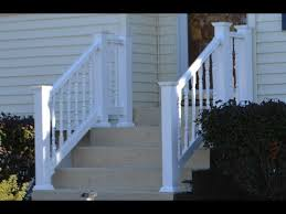 Vinyl Railing Attached To Concrete Patio Stairs Youtube
