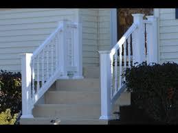 vinyl railing attached to concrete