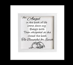 Baby Memorial With Name An Angel In The Book Of Life Vinyl Decal Wall Sticker