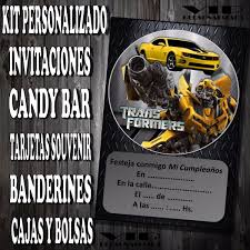 Kit Imprimible Transformers Cumpleano Bautismo Candy