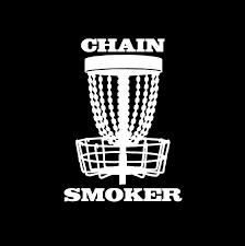 Chain Smoker Disc Golf Window Decal Sticker Custom Sticker Shop