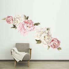 Peony Wall Decal Floral Wall Decals Watercolor Peony Large Etsy Floral Wall Decals Floral Wall Floral Wallpaper