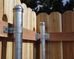 Bracket Attaches Wood Fence Rails To Metal Fence Posts Retrofit