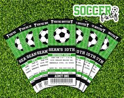 Soccer Invitation Soccer Birthday Soccer Party Ticket Invitation