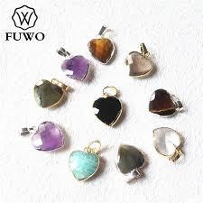 fuwo elegant heart crystal pendant with