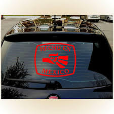 Hecho En Mexico Mexican Large 16 X13 Outdoor Durable Red Decal Sticker Ebay