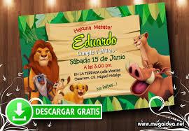 Invitacion Hakuna Matata Mega Idea