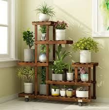 tall foldable wooden plant stand