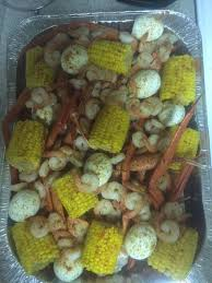 Low country boil!!! The boiled eggs is ...
