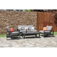 fiorito 4 seater sofa set metal
