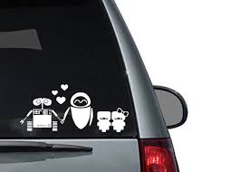 Wall E Robot Family Decal For Cars Laptops And Other Surfaces Etsy In 2020 Family Decals Family Car Decals Family Stickers