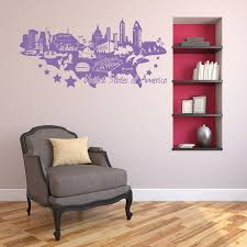 United States Of America Map Wall Decal Style And Apply