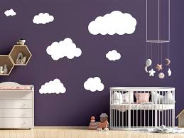 Personalized Set Of Clouds Wall Decal Nursery Wall Decal Childs Room The Personalized Gift Co