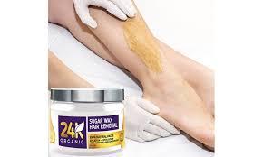 24k organic hair removal sugar wax