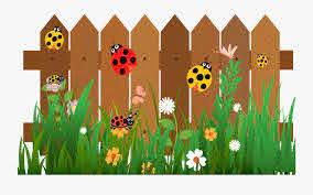 Fence Cartoon Ladybird The Cartoon Garden Wooden Fence Free Transparent Clipart Clipartkey