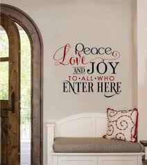 Peace Love Joy To All Who Enter Here Vinyl Decal Wall Stickers Letters Words Home Entryway Decor