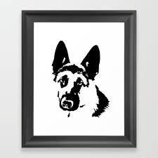german shepherd dog gifts framed art
