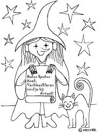Kijk Even Heksen Kleurplaat