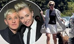 Portia de Rossi says wife Ellen DeGeneres is 'doing great' and won't quit  her talk show   Daily Mail Online