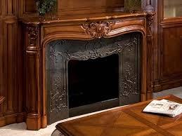 capricci wooden fireplace mantel