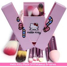 o kitty pack of 8 makeup brushes