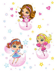 Girly Kids Room Fairy Wall Stickers