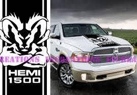 For Universal Hemi Dodge Ram 1500 Hood Stripe Truck Decals Mopar Stickers Vinyl Car Graphics Car Stickers Aliexpress
