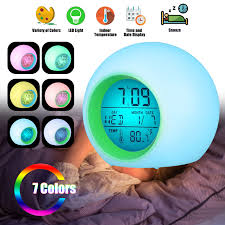 Eeekit Kids Alarm Clock Digital Alarm Clock For Kids 7 Color Changing Night Light Clock For Girls Boys Bedroom Children S Wake Up Clock With Touch Control Indoor Temperature And Snooze Walmart Com