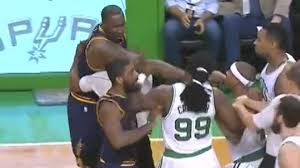 Kendrick Perkins plows into Jae Crowder; scuffle ensues | Sporting News