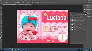 Tutorial Tarjeta De Invitacion Para Cumpleanos Ninas Photoshop