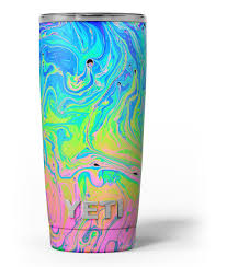 Neon Color Swirls Skin Decal Vinyl Wrap Kit Compatible With The Yeti Designskinz