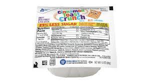 cinnamon toast crunch 25 less sugar