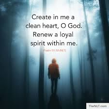 "NLT Bible Verse on Twitter: """"Create in me a clean heart, O God ..."