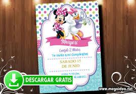 Invitaciones De Minnie Y Daisy Gratis Mega Idea