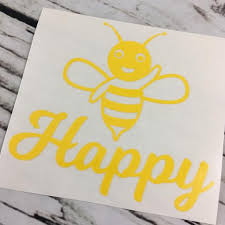 Bee Happy Car Decal Michelle S Variety Shop