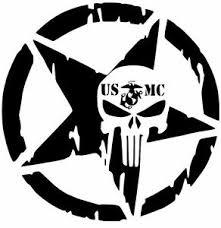Usmc Army Navy Star Punisher Marine Military Decal Car Sticker Vinyl Semper Fi Ebay