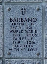 Pauleen Effie Jones Barbano (1919-2016) - Find A Grave Memorial