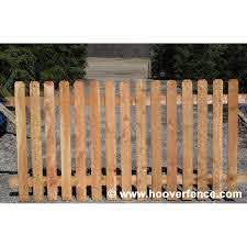 Spaced Dog Ear Wood Fence Panels Cedar Hoover Fence Co